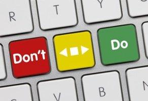Ausschnitt einer Tastartur mit veränderten Aufschriften auf den Tasten: Don't und Do