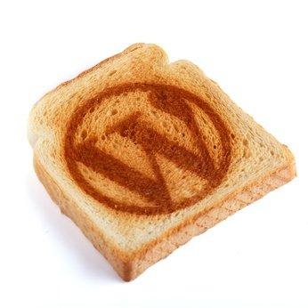 Toastbrot mit dem WordPress Logo darauf