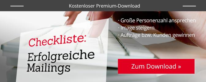 Checkliste: Erfolgreiche Mailings – zum Download