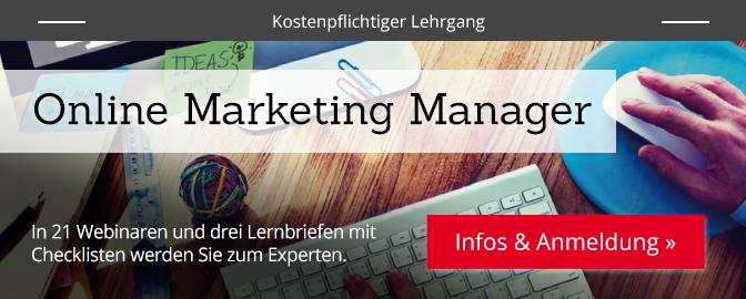 Online Marketing Manager (DIM) – mehr Infos zum Lehrgang