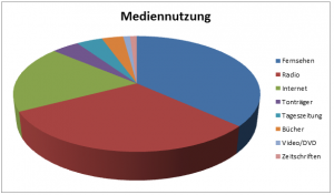 Kuchendiagramm zum Thema Mediennutzung