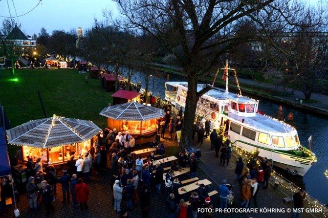 Ein Bild des Weihnachtsmarktes von Mühlheim.