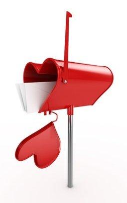 Ein Briefkasten in Herzform