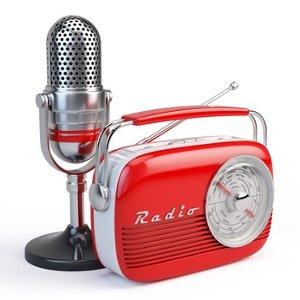Ein Radio und ein Mikrofon aus den 50ern