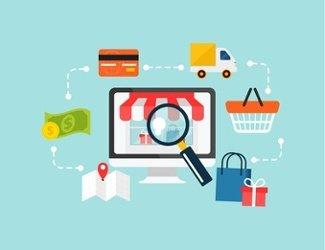 Grafik die den Verlauf des E-Commerce darstellt