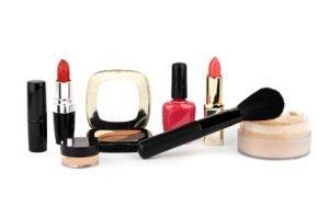 Eine Reihe voller Make-up
