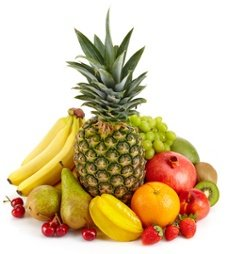 Unterschiedliche Früchte