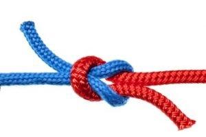 Zwei Seile die verknotet sind