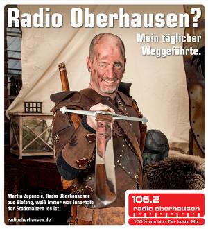 Werbung für den Radiosender Radio Oberhausen