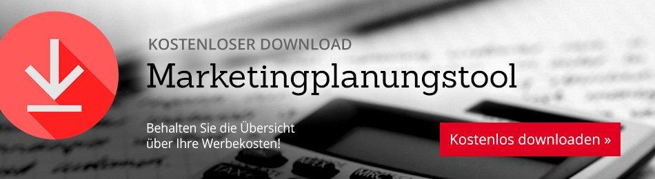 Kostenloser Download: Marketingplanungstool – behalten Sie die Übersicht über Ihre Werbekosten!