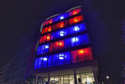 Essener Lichtwochen 2017, Station: Lightroof / Büro-Büro. Foto: Ralph Lueger.