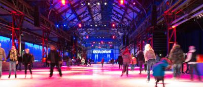 """Bei """"Radio Bochum on Ice"""" wird die Eislaufbahn der Jahrhunderthalle Bochum in Bochum mit dem Radiosender kombiniert. Foto: Bochumer Veranstaltungs-GmbH"""