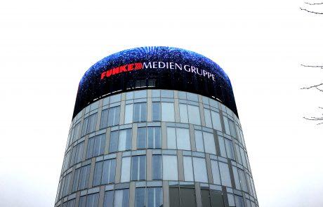Im Medienturm der FUNKE MEDIENGRUPPE werden künftig nicht nur Redaktionen untergebracht, sondern auch die MediaWall. Foto: Marie Schnitzler