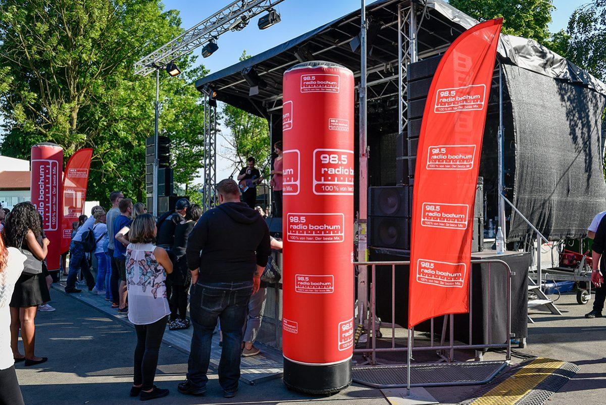 Radio Bochum bei Kemnade in Flammen 2018. Foto: Westfunk GmbH & Co. KG
