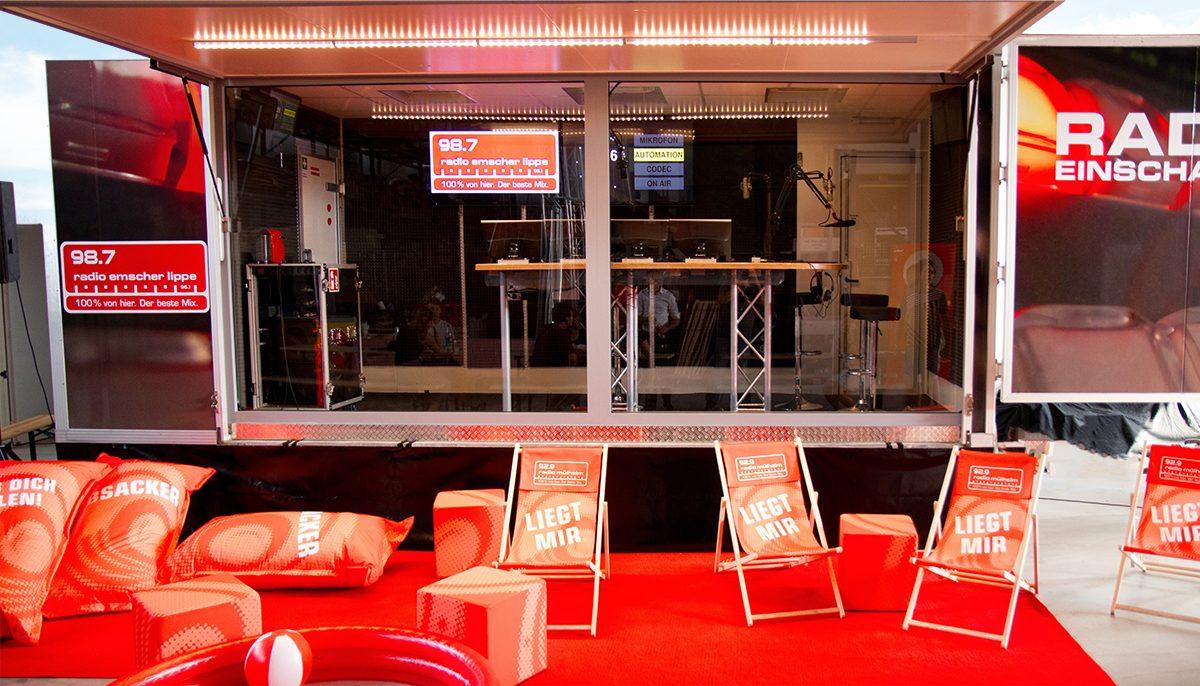 Das Gläserne Studio ist bei Außenveranstaltungen sehr gefragt. Foto: Westfunk GmbH & Co. KG