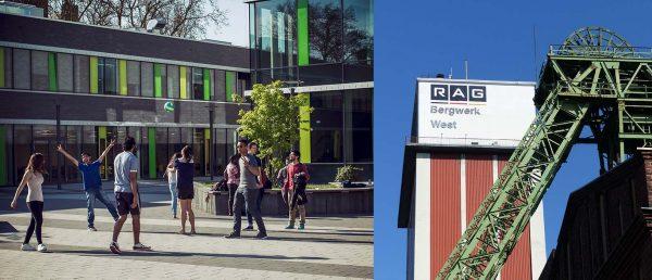 Von der Zeche zur Hochschulstadt: Kamp-Lintfort lockt mit neuen Reizen. Fotos: Stadt Kamp-Lintfort/© Hochschule Rhein-Waal – Vincent To