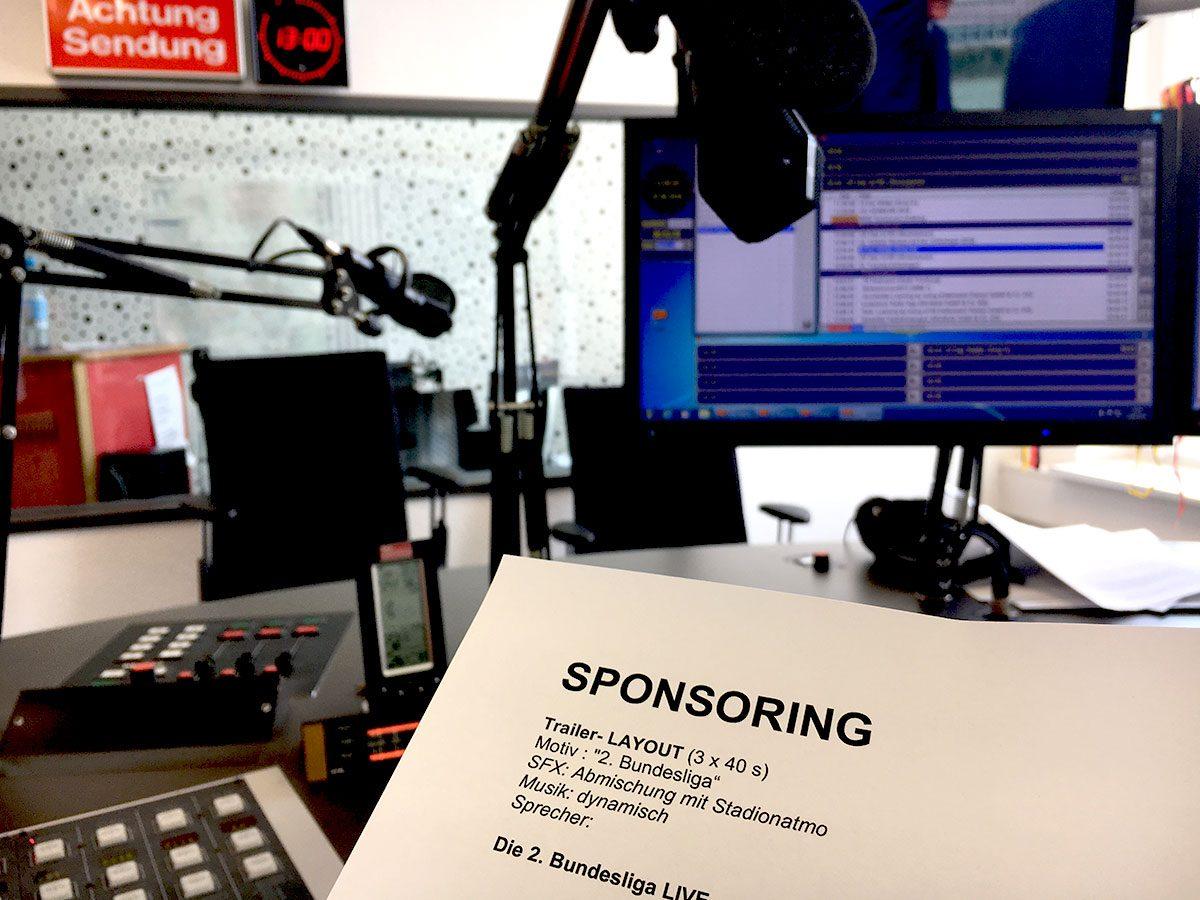Patronate und Infomercials gelten als eine Form des Sponsorings. Foto: Westfunk/Radio Duisburg