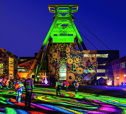 """Im Rahmen der """"Night of Cultural Brands"""" wird am 7. November auf dem Welterbe auch der 14. Europäische Kulturmarken-Award verliehen. Foto: Zollverein / Jochen Tack"""