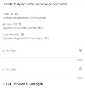 Dynamische Suchkampagnen byGoole
