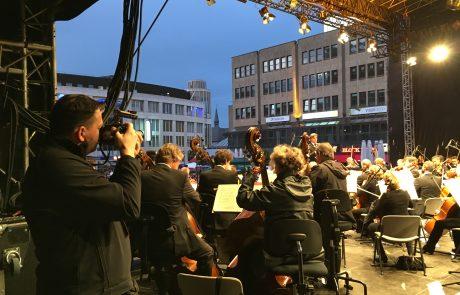 Hinter den Kulissen des Drehs zum Essener Imagefilm, Bild: EMG