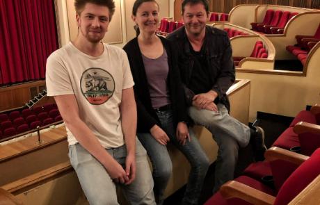 Niklas Günter (K+S Studios), Nicola Schwedt (EMG) und Marcus Kalthoff (K+S Studios), Bild: EMG