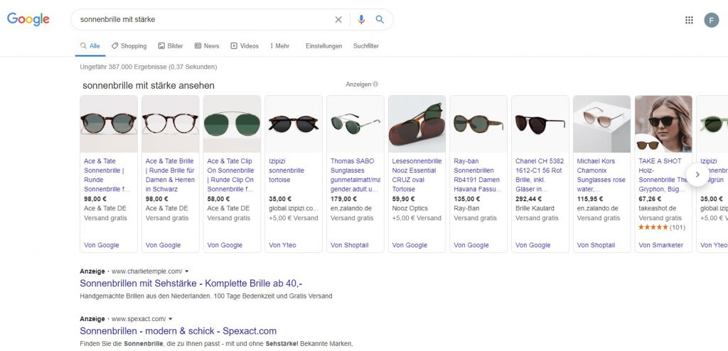 Google Shopping Kampagne byGoogle
