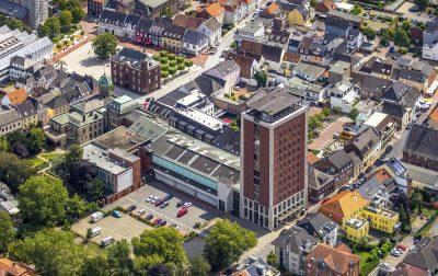 Das Underberg-Stammhaus in Rheinberg von oben betrachtet. Foto: Hans Blossey / FUNKE Foto Services